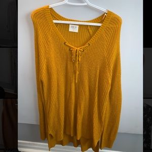 Sweaters - Sweater with drawstrings on chest